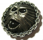 Scream Belt Buckle with display stand. Product code: TG5